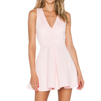 Lovers + Friends Geneva Dress in Blush