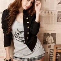 Hot Sale Black Double Breasted Girls Jackets : Wholesaleclothing4u.com