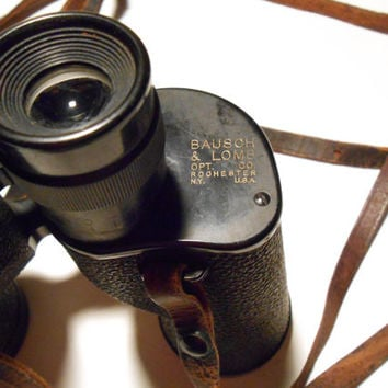 Retro Vintage Bausch and Lomb Zephyr 7x35 Binoculars 1950s Rochester New York with Case