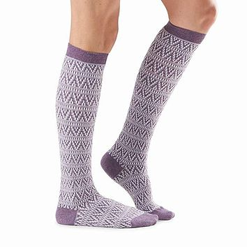 Tavi Noir - Isabella Knee High Cabled Socks | Porpolla Twisted