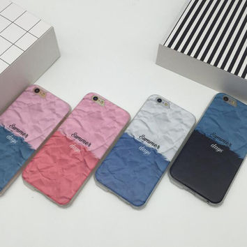 Geometric spell color mobile phone case for iphone 6 6s 6plus 6s plus + Nice gift box!
