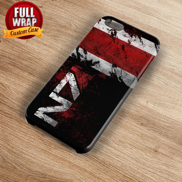 N7 Mass Effect Logo Full Wrap Phone Case For iPhone, iPod, Samsung, Sony, HTC, Nexus, LG, and Blackberry