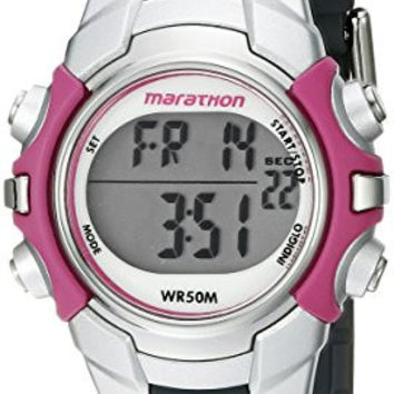 Timex Women's T5K646M6 Marathon Digital Watch With Grey Resin Band