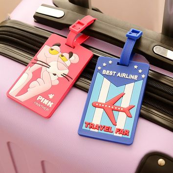 Cute fashionable Label for your luggage - A Funky Rubber Travel Luggage & Label Straps suitable for Address ID