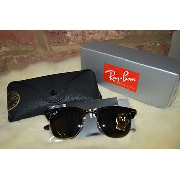 RAY-BAN SUNGLASSES RB3016 Club Master Black/Gold W036549 {Free Shipping}