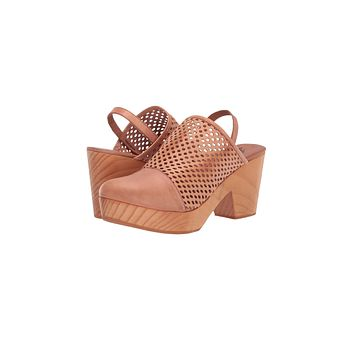 Free People Logan Natural Leather Clogs