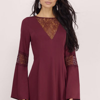 Flirt Around Lace Skater Dress $58