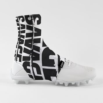 Savage Chroma Black White Spats / Cleat Covers