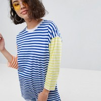 ASOS Top in Oversized Cutabout Stripe at asos.com