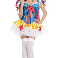 Puff Sleeve Tiered Mini Dress Snow White Costume