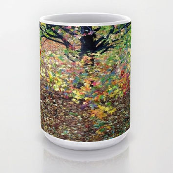 Fall Foliage, Leaves - Ceramic Mug, 2 Sizes Available - Kitchen, Bathroom, New Home or Apartment, Gift, Coworker - Made To Order - COA#02