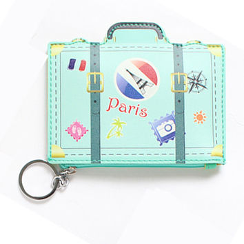 LUGGAGE - Creative Cute Cartoon Coin Purse Key Chain Girl Leather Change Wallet Card Holder