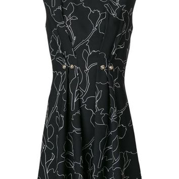 DCCKIN3 Carven Button Detail Printed Dress