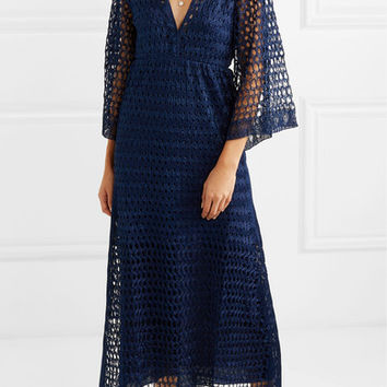 Missoni - Reversible metallic crochet-knit dress