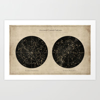 Ancient Constellations Art Print by Terry Fan