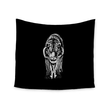 "BarmalisiRTB ""Stare"" Black White Wall Tapestry"