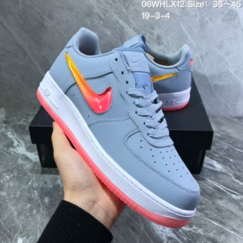 DCCK2 N828 Nike Wmns Air Force 1 SE PRM Jelly Sky Blue White Liquid Air Force Crystal Hook Leisure Sports Board Shoes
