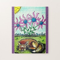 Sleeping Fox Jigsaw Puzzle