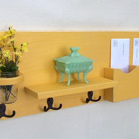 Mail Organizer - Mail Holder - Coat Hooks - Key Hooks