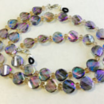 Rainbow Beaded Eyeglass Chain