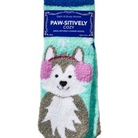 Shea-Infused Lounge Socks Paw-sitively Cozy