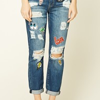 Love Patch Boyfriend Jeans
