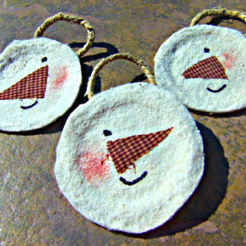 Christmas Ornament Handmade Snowman Ornament Direct Checkout Gift tag