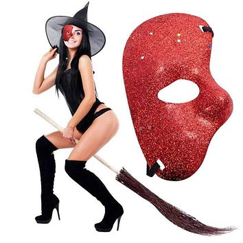 Opera Mask Plastic Half Glitter Paty Mask Christmas Halloween Decoration Fancy Costume Accessories Party Cosplay Props Macchar Cosplay Catalogue