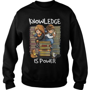 Hermione and Belle knowledge is power shirt Sweatshirt Unisex