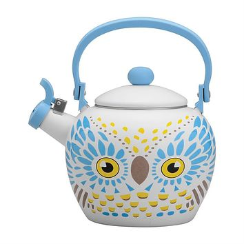 White Owl Whistling Tea Kettle