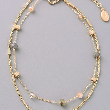 Gold Charm Choker Necklace