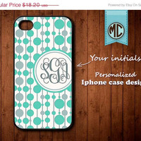 20% OFF SALE Personalized iPhone 4 Case - Plastic iPhone case - Rubber iPhone case - Monogram iPhone case - iPhone 4s case - K086