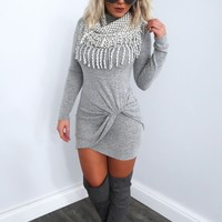 Restock: A New Side Of Me Dress: Heather Grey