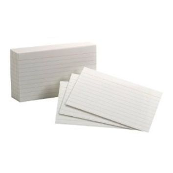 Oxford Ruled Index Cards, 3 x 5 Inches, White, 10 Packs of 100 (31)