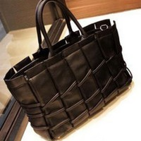 Black Vintage Totes Bag With Print$38.00