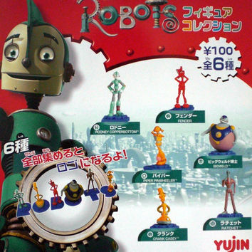 Yujin Robots Blue Sky Studios 20th Century Fox Gashapon Capsule 6 Mini Trading Figure Set