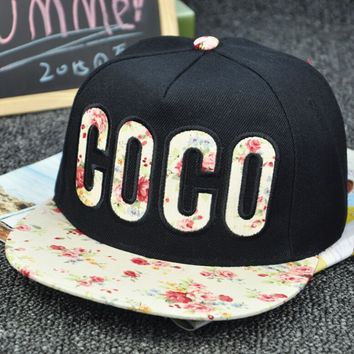 Retro Floral Cap Embroidery Hat Summer Gift 26
