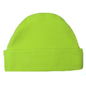 Newborn and Preemie Lime Green Capped Unisex Baby Hat