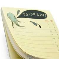 To Do Notepad - Octopus - to do notebook, daily to do list notepad chore list pad boygirlparty