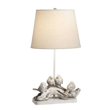 2 Table Lamps - White Sparrow