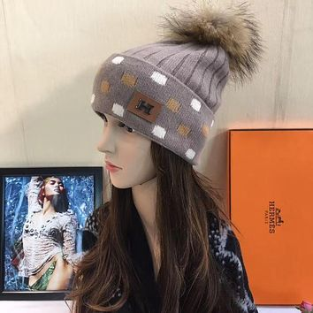 Hermes Women Beanies Knit Winter Hat Cap