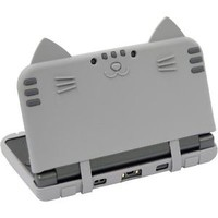 New Nintendo 3DS LL XL CYBER Silicon Case Cover Cat Nyan Neko Nyan DX Saba Japan