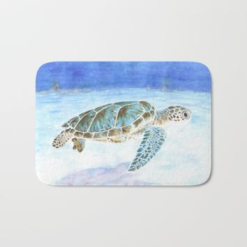 Sea turtle Bath Mat by Savousepate