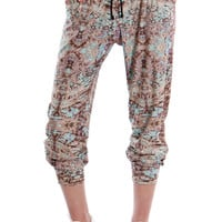 Leggsington Sally Spectrum Multi Print Soft Jersey Jogger Pants
