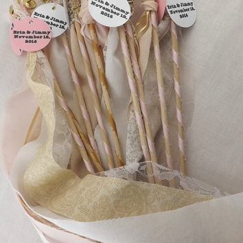 75 Fairy Wedding Wands, Boho Wedding Send Off, Princess Party Favors, Wedding Table Decor, Personalized Option Available