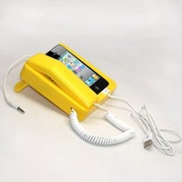 Tsirtech Phone Handset and Sync Stand for iPhone 4, 3GS, 3G, and Other Wireless Phones with 3.5 mm Headphone Jack Yellow