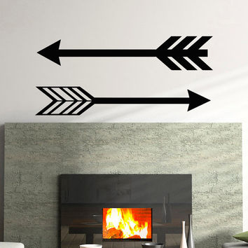 Arrows Wall Decal Vinyl Sticker- Navaho Arrows Wall Decor- Simple Indie Arrow Wall Art- Tribal Arrow Nursery Art Bedroom Dorm C062