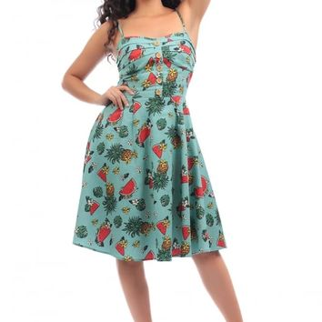 COLLECTIF MAINLINE FAIRY TROPICAL FRUIT DOLL DRESS