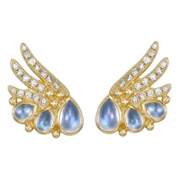 Temple St. Clair Object Trouvé Diamond Moonstone Earrings | Nordstrom