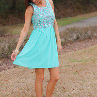 All Tangled Up Dress, Mint